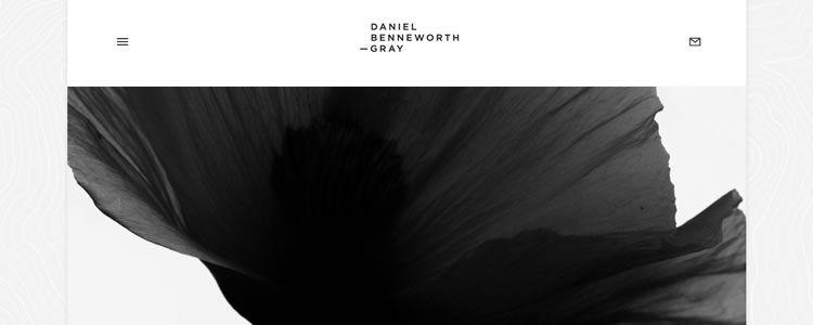 inspiration Daniel Benneworth-Gray example modern minimalist web design