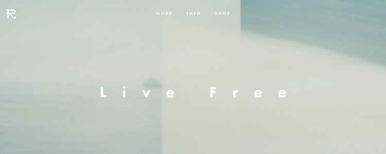 inspiration Refryed Design example modern minimalist web design