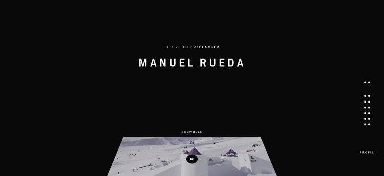 Manuel Rueda modern minimal design web site inspiration example