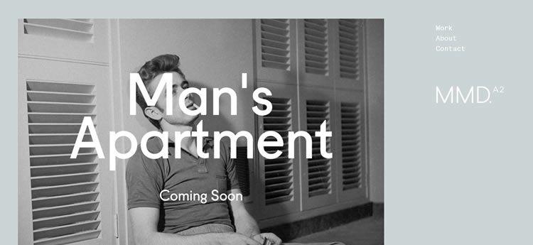 MmD modern minimal design web site inspiration example