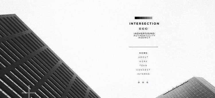 Intersection modern minimal design web site inspiration example