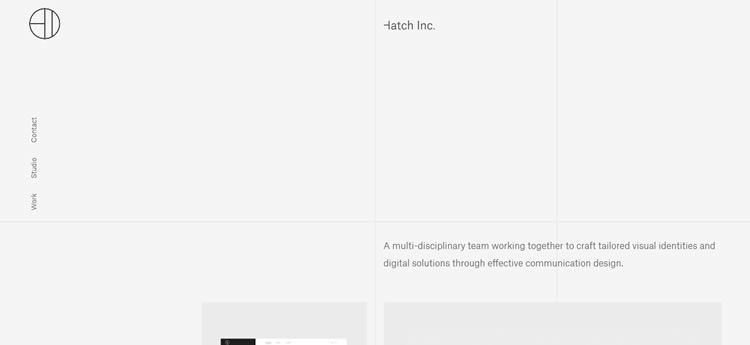 Hatch Inc modern minimal design web site inspiration example