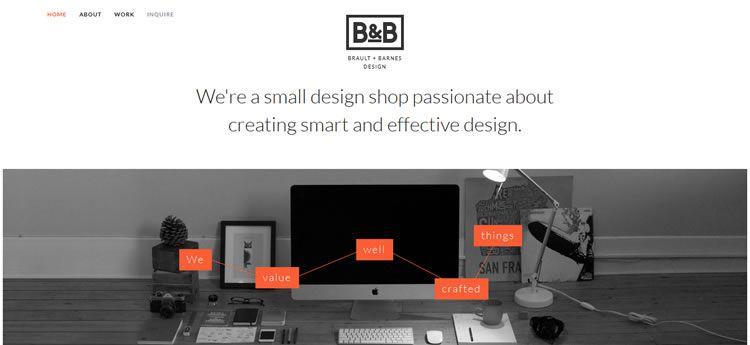 Brault Barnes Design modern minimal design web site inspiration example