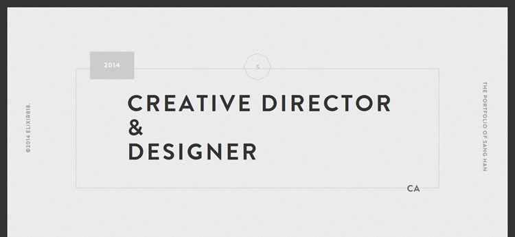 Sang Han modern minimal design web site inspiration example